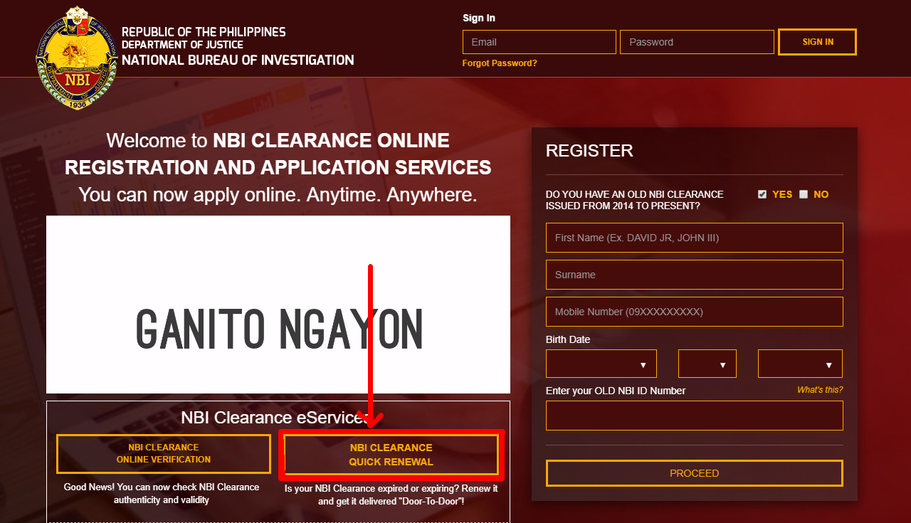 NBI Clearance Renewal Home Page nbi clearance renewal NBI CLEARANCE RENEWAL ONLINE GUIDE NBI Clearance Home Page copy1
