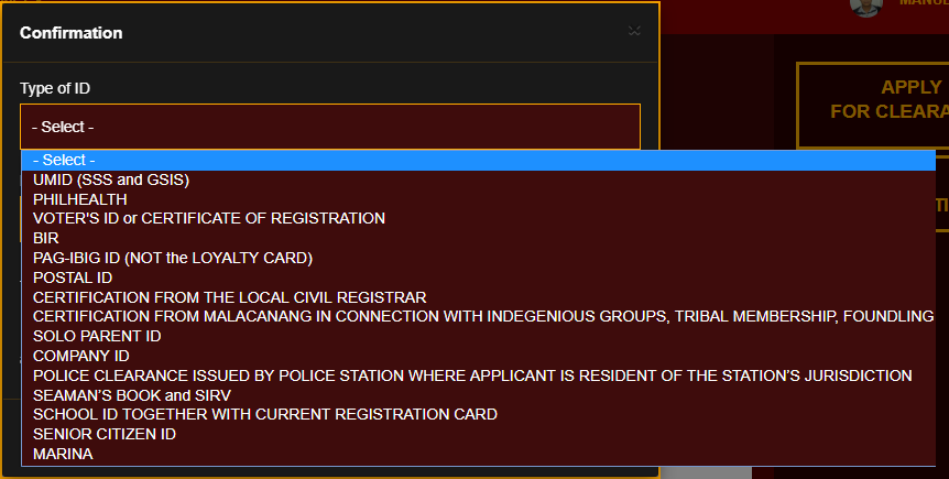 NBI CLEARANCE REGISTRATION AND APPLICATION - CONFIRMATION  NBI CLEARANCE ONLINE REGISTRATION | NBI CLEARANCE Screenshot 1 1
