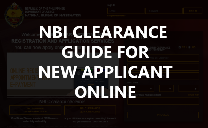 NBI CLEARANCE GUIDE FOR NEW APPLICANT ONLINE
